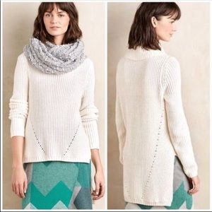 Anthropologie Moth High Low Turtleneck Sweater M